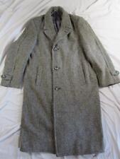 Vtg 50s German Fleck Tweed Long Wool Overcoat Coat Hollywood VLV Mod Top Nice!