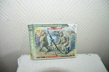 Maquette zvezda urss mortier 82-mm Soviet mortar with crew Model Kit
