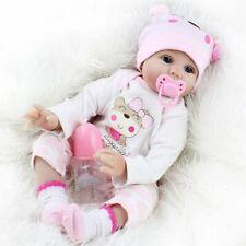 DHL Reborn Baby Puppe 55 cm Lebensecht Handgefertigt Weich Silikon-Vinyl Mädchen