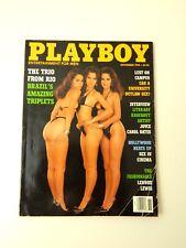 Playboy November 1993 Magazine Julianna Young Brazilian Porto Triplets