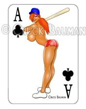 JESSICA RABBIT sexy Baseball bat girl pin-up playing card style sticker decal R