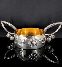 Antique Russian Art Nouveau Silver Bowl circa 1896-1908