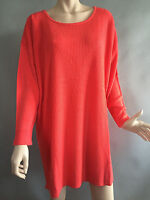 BNWT Womens Sz 18/20 Autograph Brand Orange Knit Longer Style Jumper RRP $70