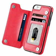 Magnetic Leather Wallet Case Card Slot Shockproof Flip Cover for Phone X 6s 7 5s