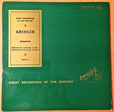 FRITZ KREISLER BEETHOVEN VIOLIN SONATAS 1-10 UK HMV/ODEON 5LPS RARE RUPP GREAT!