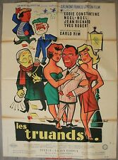 LES TRUANDS Affiche Cinéma ORIGINALE / Movie Poster Eddie Constantine
