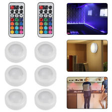 6×Under Cabinet Lights ,Dimmable RGB LED Kitchen Lights Closet Lighting Cupboard