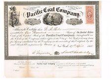 Pacific Coal Company, 1865, scarce