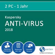 Kaspersky Anti-Virus 2018, 2 PC - 1 Jahr, ESD