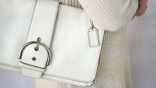 Authentic COACH Shoulder Bag Purse Genuine Leather White/Ivory Vintage