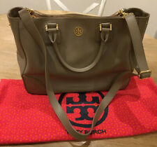 Tory Burch Taupe Robinson Double zip Large tote
