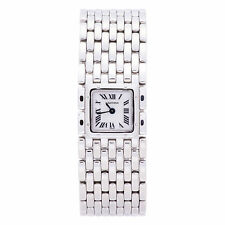 CARTIER PANTHERE RUBAN 2420 WOMENS QUARTZ WATCH WHITE DIAL STAINLESS STEEL 21MM