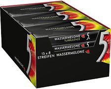(1000g=30,61€) Wrigleys 5 Gum Turbulence Wassermelone 15 Packungen Kaugummi