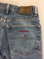 Vintage Tommy Hilfiger Tommy Jeans Leather Patch Men Tag Sz 30x30 Measures 30X29