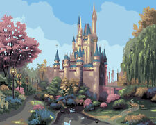 """New DIY Paint By Number 16*20"""" kit Oil Painting On Canvas Dreamlike Castle 788"""