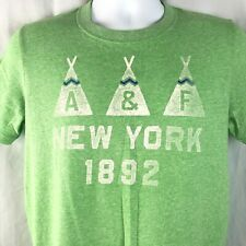 A & F Abercrombie Fitch Teepee New York 1892 M Muscle T-Shirt Medium Mens Green