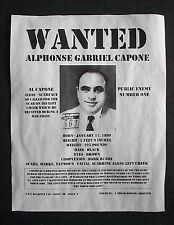 "(039) GANGSTER AL CAPONE WANTED SCARFACE PRISON PUBLIC ENEMY FBI POSTER 11""x14"""