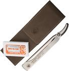 Dovo Shavette Straight Razor with Aluminum Handle & Leather Case #577056