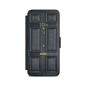SHERLOCK HOLMES DOOR BAKER STREET 221B Flip Wallet Phone Case