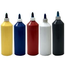 ACRYLIC ARTIST PAINT, 500ml BOTTLES, 2 colours, pack of 5 SPECIAL