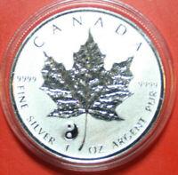 "Kanada Maple Leaf 5 Dollars 2016 Privy Mark ""Yin Yang"" 1 Oz/Unze  F#3528  rar"