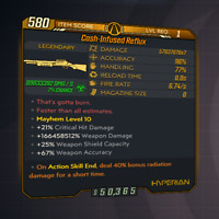 Borderlands 3 | Cash-Infused Reflux | LVL 1 | Modded | XBOX / PS4