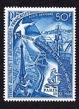 French Southern Antarctic Scott C17, Mint Hinged, Eiffel Tower & Albatross