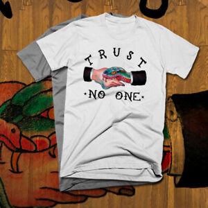 Trust No One T-Shirt Sicario snake new cotton tee all sizes hitman