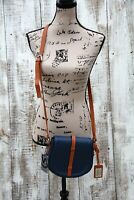 VALENTINA Crossbody NEW Shoulder Bag Purse Blue Leather Handmade in Italy