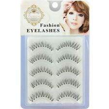 5 Pairs Natural Soft Cross Long Reusable False Eyelashes Extension Fake Eye Lash