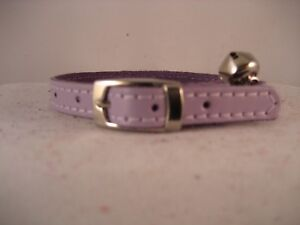 LEATHER LILAC CAT COLLAR