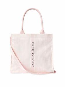 New NWT Victoria's Secret Pink Stripe Logo Tote Bag - Spring 2021 - $68 Retail