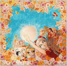 """GUCCI Japanese manga Viva! Volleyball 34"""" washed silk twill scarf NWT Auth $495!"""