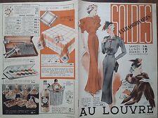 """CATALOGUE MODE 1936 """" AU LOUVRE """" SOLDES EXTRAORDINAIRES"""