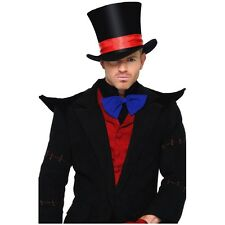 Top Hat Mad Hatter Magician Victorian Vampire Halloween Costume Fancy Dress