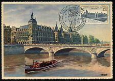 FRANCE CARTE MAXIMUM MAXI CARD N°781 LA CONCIERGERIE OBL  UPU MUSEE POSTAL 1947