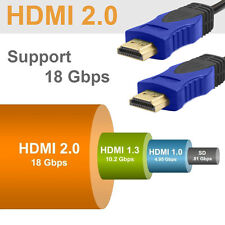 Super Speed HDMI 2.0 Cable 18Gbp 3D 4Kx2K Audio Return PS3 DVD/6FT - 2 Pack V2.0