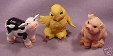 "NIB-Cutest Set of 3-Cow/Pig/Chick-3.75"" T x 3""W Each"