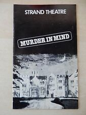 February 1982 - Strand Theatre Playbill - Murder In Mind - Nyree Dawn Porter