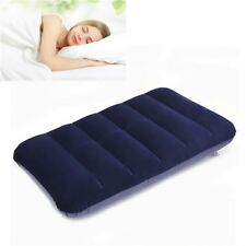 Car Travel Air Cushion Rest Pillow Blue Inflatable Bed Outdoor
