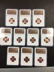 (10) NGC 2009 MS 66 Birth & Childhood Penny lot NO RESERVE! CLEAN!