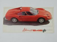 Original Ferrari 246 GT Dino Sales Brochure Pamphlet Handbook
