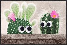 Salonloewe Fußmatte Kaktus Freunde 50 x 75 cm waschbar Schmutzmatte Blume