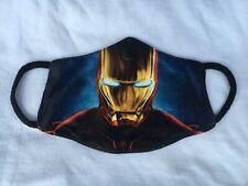 Kids Handmade Cotton Reusable Washable Iron Man Soft Face Mask