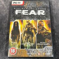 F.E.A.R. Platinum Collection PC Game Complete DVD-Rom Horror Shooter