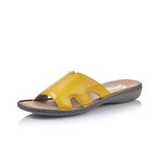 Rieker 60824-68 Ladies Yellow Leather Mule Sandal