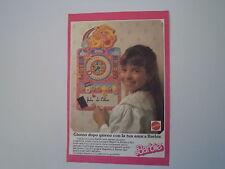 advertising Pubblicità 1987 BARBIE MATTEL