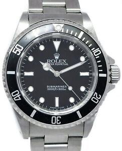 Rolex Submariner No Date Steel Black Dial/Bezel Mens 40mm Watch U 14060