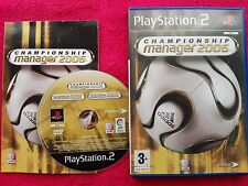 CHAMPIONSHIP MANAGER 2006 ORIGINAL BLACK LABEL SONY PS2 PAL