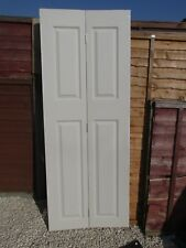 Bi fold doors white 4 panel H194xW750 LN6 Lincoln SOLD OUT